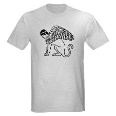 Ptolomaic Winged Sphynx Symbol T-shirt