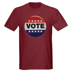 Vintage Vote Button Symbol T-shirt
